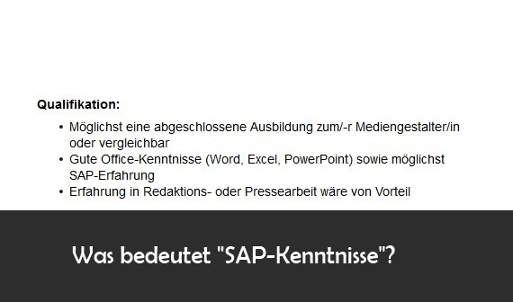 """SAP Kenntnisse"""" im Lebenslauf: Bedeutung und Definition – GIGA"""