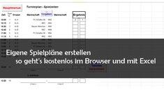 Spielpläne erstellen: Online und Vorlagen für Excel (Turniere und Liga)
