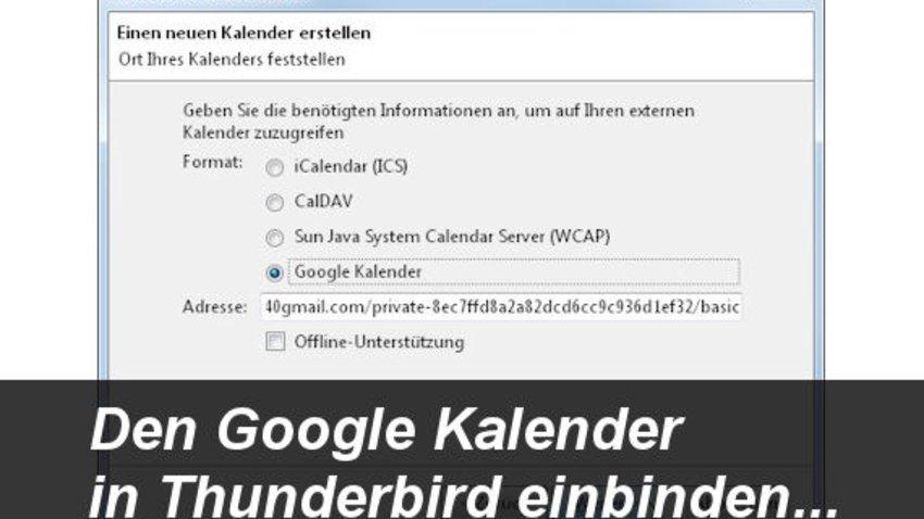Google Kalender In Thunderbird Einrichten