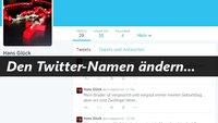 So einfach lässt sich ein Twitter Name ändern