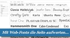 Top 10 Web-Fonts: Neue Typo-Designs aus dem Google-Fundus