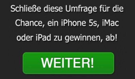 """""""Glückwunsch: Du wurdest für die WhatsApp-Nutzerumfrage ausgewählt!"""""""
