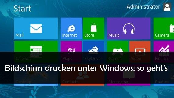 Bildschirm Drucken Unter Windows Xp Vista 7 Und 8