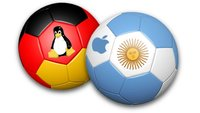 WM-Finale Deutschland vs. Argentinien: Linux tritt gegen OS X an