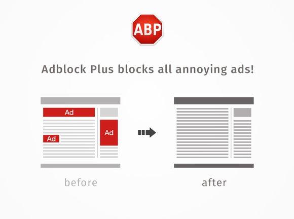 Adblock Plus für Firefox blockt zuverlässig störende Werbung auf Webseiten