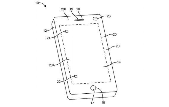Apple-Patent zeigt flexibles Display ohne Buttons auf Frontseite