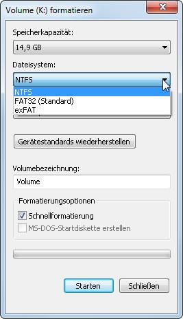 Stick Formatieren Fat32