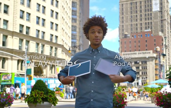 Samsung vergleicht (mal wieder) Galaxy Tab S mit iPad Air