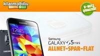 Klarmobil: Samsung Galaxy S5 Mini mit AllNet-Spar-Flat für nur 241 statt 449 Euro