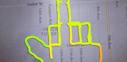 Die 10 kuriosesten GPS-Zeichnungen (Bildergalerie)