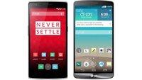 OnePlus One vs. LG G3: Technische Daten im Vergleich