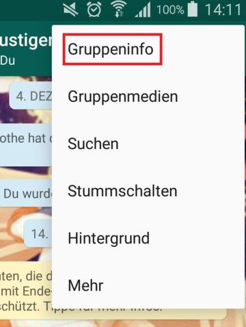 WhatsApp Gruppe Admin