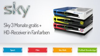 Sky zum Bundesliga-Start: 3 Monate gratis + HD-Receiver in Fanfarben kostenlos dazu