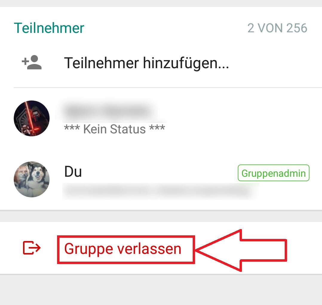 WhatsApp Gruppe löschen leicht gemacht