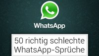 50 richtige schlechte WhatsApp-Statuseinträge