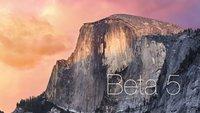 Yosemite Beta 5: Video zeigt alle Neuerungen