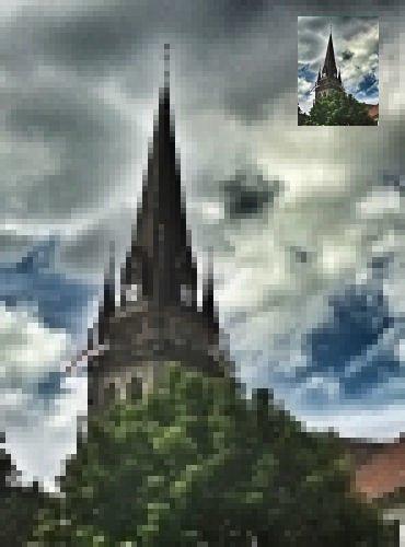 Wenn wir Bilder vergrößern, dürfen wir nicht einfach nur Pixel vergrößern