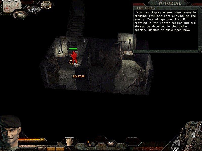 Diese Commandos 3 Demo enthält ein Tutorial, mit dem man die Steuerung erlernen kann