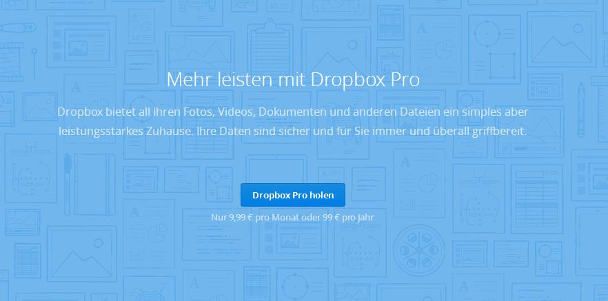 Dropbox Preis