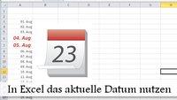 Excel: Heutiges Datum einfügen – automatisch und mit Shortcut