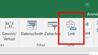 Excel: Hyperlink einfügen (auf Webseite, Datei, anderes Tabellenblatt)