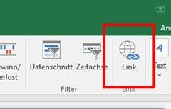 Excel: Hyperlink einfügen...