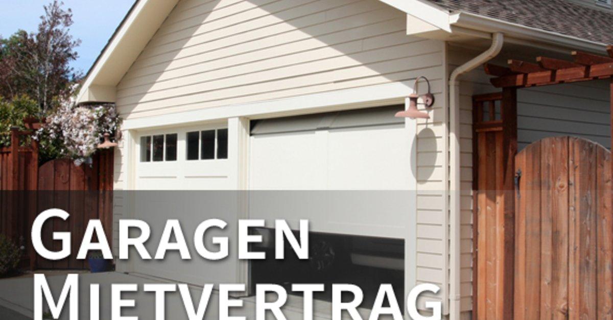 Vorlage: Mietvertrag für Garage Download – GIGA