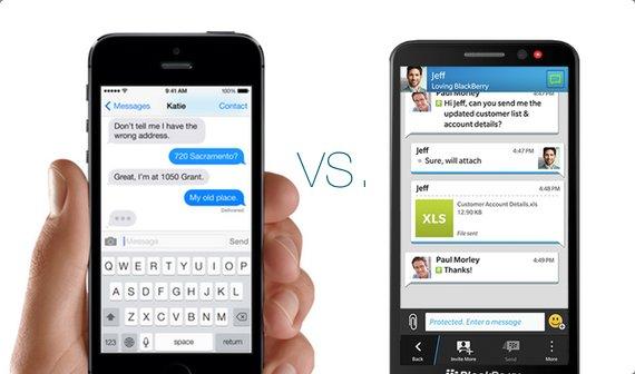 BlackBerry: Unser Messenger ist besser als iMessage