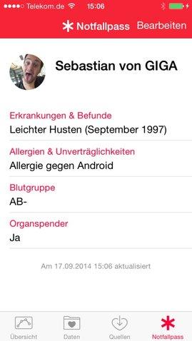 iOS-8-einstellung-health-notfallpass