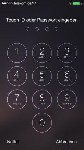 iPhone-Sperrbildschirm