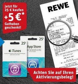 iTunes-Karte: Die Aktion bei Rewe.