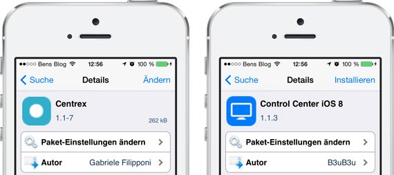 iOS 8 Kontrollzentrum-Tweaks