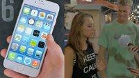 Passanten reagieren auf das iPhone 6, nicht wissend, dass es ein Klon ist (Videos des Tages)