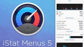 iStat Menus 5: Neue Version des System-Monitors für OS X verfügbar
