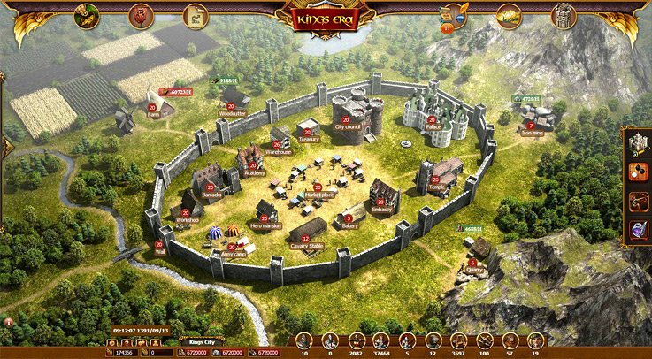 Kings Era: So würde eine voll ausgebaute Stadt aussehen. Bis dahin vergehen allerdings einige Stunden