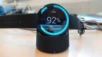 Moto 360: Neue Bilder zeigen drahtlose Ladevorrichtung & Vergleich mit der LG G Watch