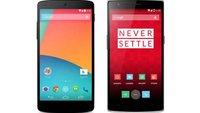 OnePlus One vs. Google Nexus 5: Technische Daten im Vergleich