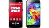 OnePlus One vs. Samsung Galaxy S5: Technische Daten im Vergleich