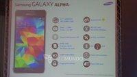 Samsung Galaxy Alpha: Alle technischen Daten enthüllt (Update)