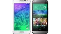 Samsung Galaxy Alpha vs. HTC One mini 2: Technische Daten im Vergleich