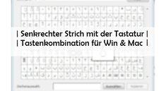 Senkrechter Strich: Tastenbefehl für Tastatur, Word und Mac (Betragsstrich)