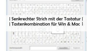 Senkrechter Strich: Tastenbefehl für Tastatur, Word und Mac