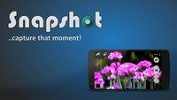 Snapshot: Smartphone im Querformat einschalten, um die Kamera-App zu starten