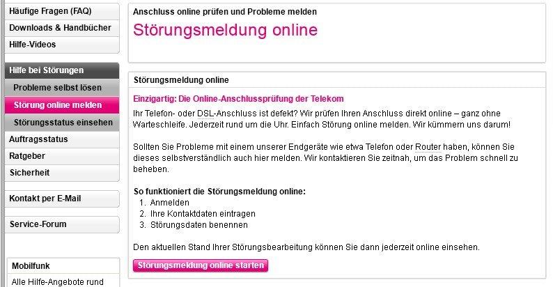 Telekom Kundencenter Störungsstelle
