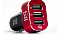 """tizi Turbolader für das Auto: 3 USB-Anschlüsse mit """"Mega""""-Power"""