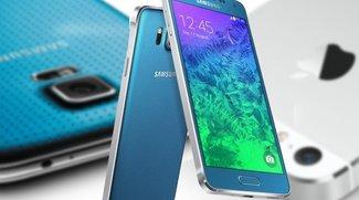 iPhone 5s, Samsung Galaxy Alpha und Galaxy S5 im Vergleich