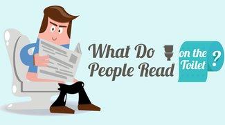Was lesen Leute auf dem Klo? (Infografik)