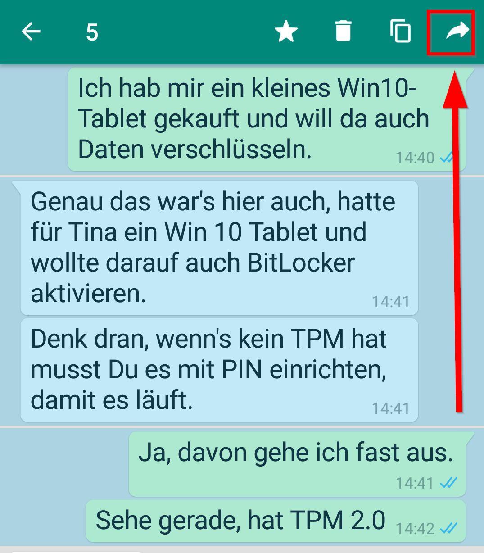 In Whatsapp Weiterleiten Und Das Limit Umgehen Nachrichten Bilder
