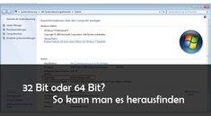 32 oder 64 Bit? Herausfinden, welches Windows-System läuft