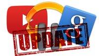 Updates für Google Play Music, Google Now & YouTube (Downloads)